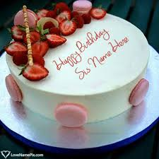 strawberry birthday cake pictures for sister name generator