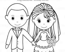7 images coloring printable template country wedding