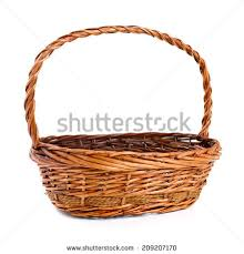 empty gift baskets vector gift basket adorn bow ribbon stock vector 493116583