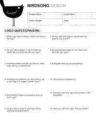 free logo design logo design questionnaire logo design
