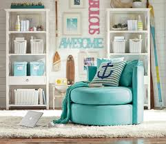 Pottery Barn Teen Rugs Aqua Blue Swivel Chair From Pottery Barn Teen For The Young At