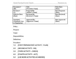 example of standard operating procedure u0027standard therapyhow to