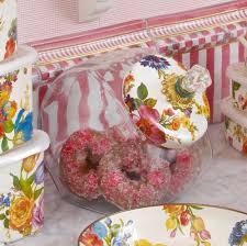 mackenzie childs vase mackenzie childs flower market cookie jar white enamel lid