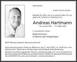Traueranzeige, Todesanzeige von Andreas Hartmann aus Handorf. - teaser4_wna_6184041