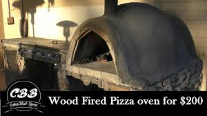 Diy Backyard Pizza Oven by Diy Wood Fired Pizza Oven For 200 Youtube