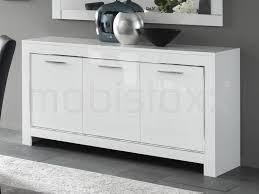 Buffet bahut MADONNA 3 portes blanc laque chez Mobistoxx