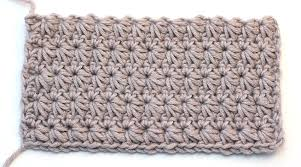 crochet pattern using star stitch crochet star stitch baby blanket easy tutorial video for beginners