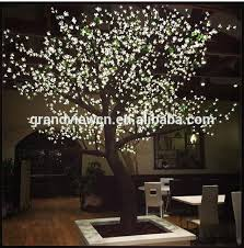 outdoor lighted cherry blossom tree white artificial nature led cherry blossom tree light for shops