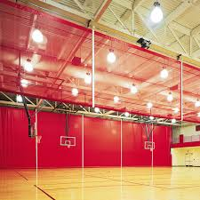 Basketball Curtains Roll Up Gym Divider Curtains Draper Inc