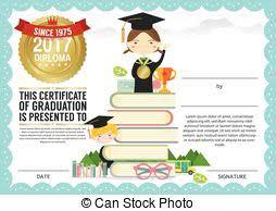 preschool graduation certificate primary school kids graduation diploma certificate design vector