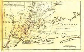 Maps Of New York by Map Of New York City And Surrounding Environs In 1776 Published