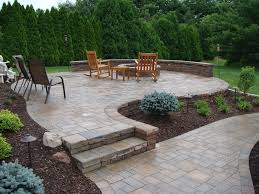 Natural Stone Patio Ideas Exterior Cool Natural Stone Floor Installations With Wooden