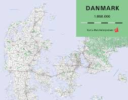 Map Of Denmark Large Detailed Map Of Denmark With Cities And Towns