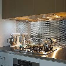 mosaique cuisine carrelage mosaique en inox poli miroir cm round25 miroir carrelage