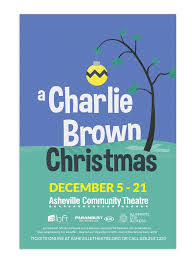 brown christmas poster asheville community theatre poster designs dena rutter design
