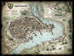 Map Of Faerun Map Of The Town Of Hochoch To Be Used With Against The Cult Of