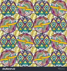 patch boho flower seamless pattern mandala stock vector 558383647