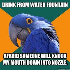 Mouth Watering Meme - pretty mouth watering meme drink from water fountain afraid