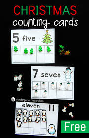 christmas eraser counting cards the kindergarten connection