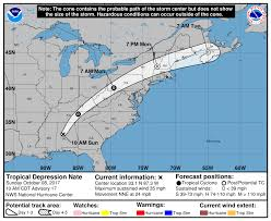 us weather map forecast today tropical depression nate