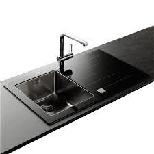 evier cuisine noir 1 bac évier inox lisse et verre noir 1 bac avec achat vente