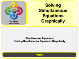 solving simultaneous equations graphically ks4 by magictrickster