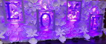 wedding backdrop lighting kit wedding stage paper flower backdrop wedding backdrop purple