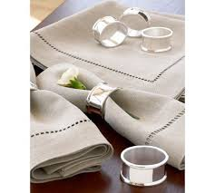 how to set a table with napkin rings maxfield napkin ring set of 4 pottery barn