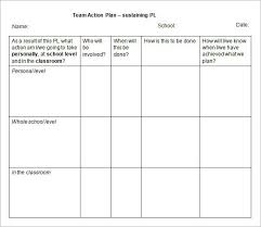 team action plan education action plan template sample helloalive