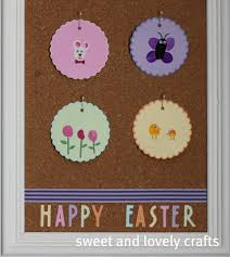sweet and lovely crafts easter thumbprint art