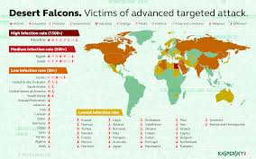 World Map Of Deserts The Desert Falcons Targeted Attacks Securelist