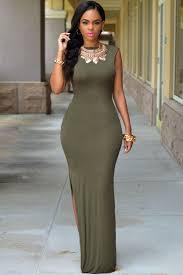 sexi maxi dresses army green slit maxi dress maxi dresses
