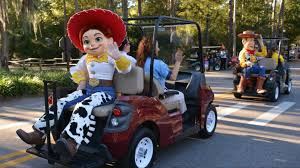 disney u0027s fort wilderness halloween golf cart parade 2014 w woody