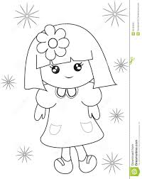 little coloring page stock illustration image 50763384