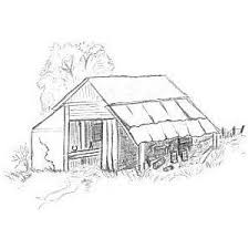 characteristic old barn drawing polyvore