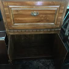 large solid wood lighted bookcase with secretary desktop for sale