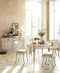 dining table cream dining table with dark wood top chairs and