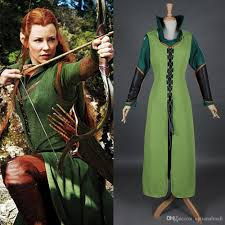 2015 anime movie the hobbit tauriel cosplay costume women dresses