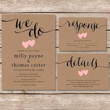 wedding invitations kraft paper impressive rustic wedding invitation kraft paper wedding paperhive