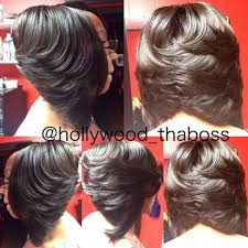 full sew in invisible part bob hair nails and make up