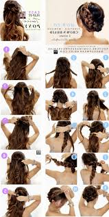easy steps for hairstyles for medium length hair easy updo hairstyles for long hair step by step women medium haircut