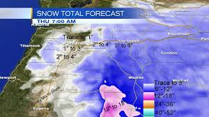 Snowfall Totals Map Winter Storm 2 0 Snow Piles Up Across Oregon
