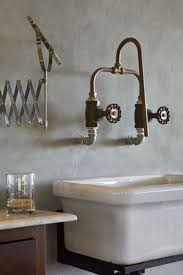 Industrial Bathroom Fixtures Wall Mounted Faucet Made From Copper Piping And Industrial Water
