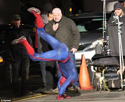 Andrew Garfield Is Flipping Great As He Films Spider Man Stunt