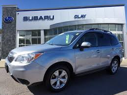 blue subaru forester 2015 feature pre owned vehicles at clay subaru vehicles for sale in