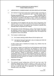 Breach Of Employment Contract Letter Sle fixed term employment contract template contractstore