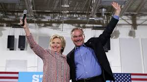 hillary clinton picks tim kaine as her vice presidential running