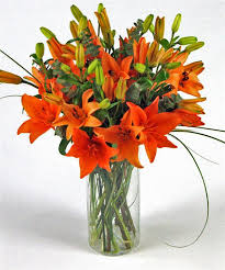 bouquet of lilies asia tiger orange lilies bouquet fineflora