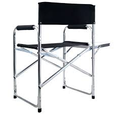 Folding Directors Chair Aluminum Folding Directors Chair With Side Table Camping Traveling