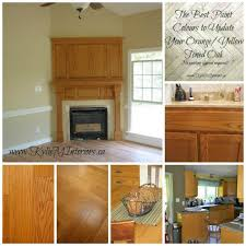 what color cabinets go with oak trim the 16 best paint colours to go with oak or wood trim